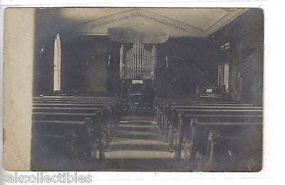 RPPC-Interior,M.E. Church-Mt. Olive,Illinois - Cakcollectibles