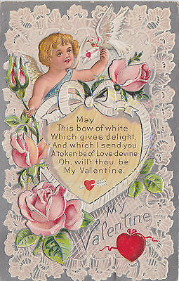 Will Thou Be My Valentine Postcard - Cakcollectibles - 1