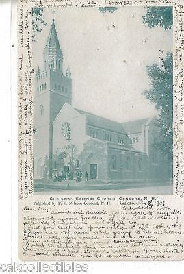 Christian Science Church-Concord,New Hampshire 1907 - Cakcollectibles
