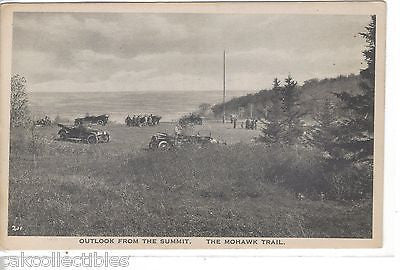 Outlook from The Summit-The Mohawk Trail-Massachusetts (Old Cars) - Cakcollectibles