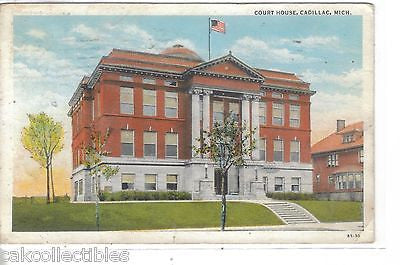 Court House-Cadillac,Michigan 1939 - Cakcollectibles