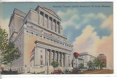 Masonic Temple,Lindell Boulevard-St. Louis,Missouri - Cakcollectibles