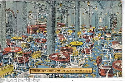 Anchor Room,Hotel Annapolis-Washington,D.C. 1944 - Cakcollectibles