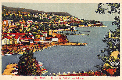 Entree Du Port Et Mont Boron Nice France Postcard - Cakcollectibles