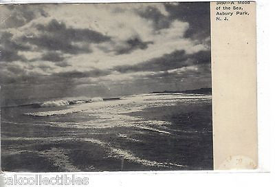 A Mood of The sea-Asbury Park,New Jersey 1907 - Cakcollectibles