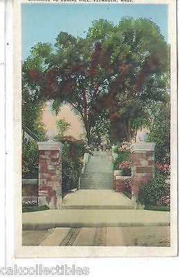 Entrance to Burial Hill-Plymouth,Massachusetts - Cakcollectibles