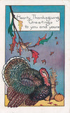 Hearty Thanksgiving To You And Yours Holiday Postcard - Cakcollectibles - 1