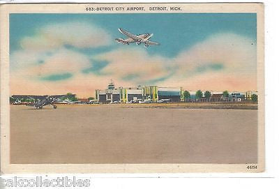 Detroit City Airport-Detroit,Michigan - Cakcollectibles - 1
