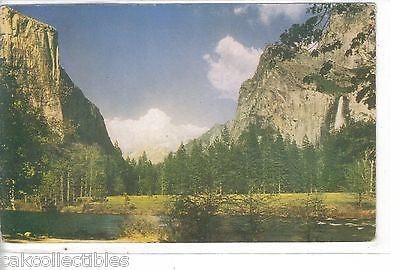 Yosemite Valley from Gateway looking toward Bridalveil Falls & El Capitan - Cakcollectibles