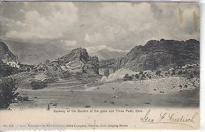 Gateway of the Garden of the Gods and Pikes Peak-Colorado UDB - Cakcollectibles