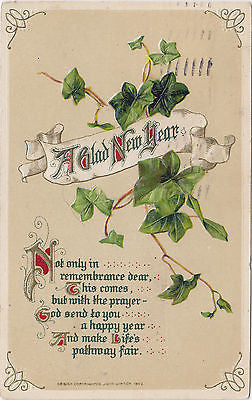 A Glad New Year Beautiful John Winsch Postcard - Cakcollectibles
