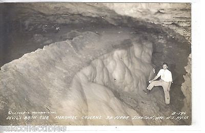 RPPC-Devil's Bath Tub,Merramec Caverns,3D Floor-Stanton,Mo. Highway 66 - Cakcollectibles - 1