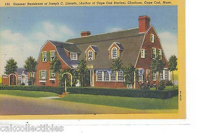Summer Residence of Joseph C. Lincoln-Chatham,Cape od,Massachusetts - Cakcollectibles