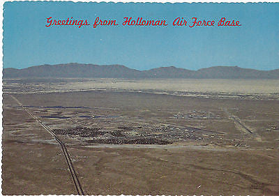 """Greetings From Holloman Air Force Base"" New Mexico  Postcard - Cakcollectibles - 1"
