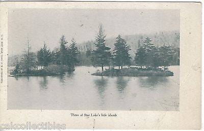 Three of Star Lake's Little Islands-New York UDB - Cakcollectibles