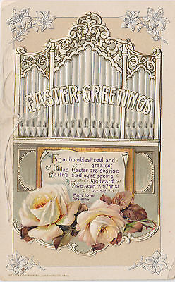 """Easter Greetings"" Open Front John Winsch Postcard - Cakcollectibles - 1"