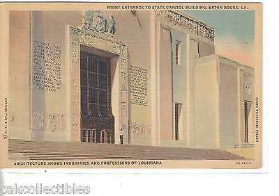 Front Entrance to State Capitol Building-Baton Rouge,Louisiana - Cakcollectibles
