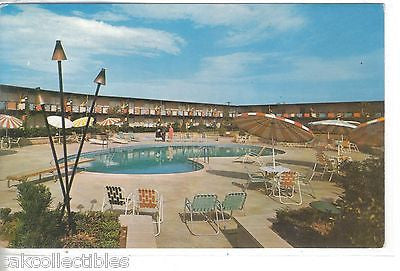 Swimming Pool,Western Hills Motor Inn-Shreveport,Bossier City,Louisana - Cakcollectibles - 1