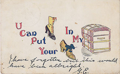 You Can Put Your Boots In My Trunk Comic Postcard - Cakcollectibles - 1