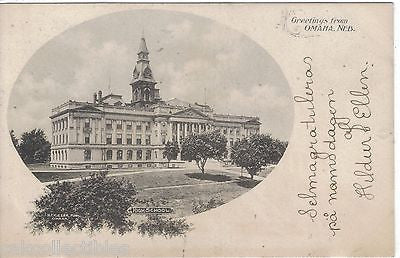 High School-Omaha,Nebraska 1905 - Cakcollectibles