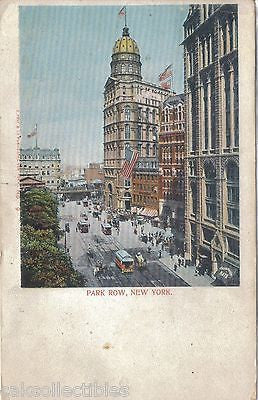 Park Row-New York City 1904 - Cakcollectibles