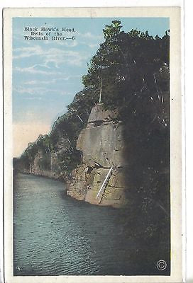 Black Hawk's Head-Dells of The Wisconsin River-Wisconsin - Cakcollectibles