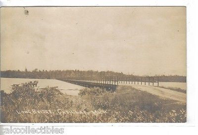 RPPC-Long Bridge-Cadillac,Michigan 1918 - Cakcollectibles - 1