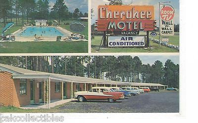 Cherokee Motel near Waycross,Georgia (Old Cars) - Cakcollectibles - 1