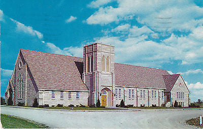Evangelical United Brethren Church Washington,Indiana Postcard - Cakcollectibles - 1