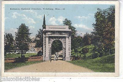 Entrance,National Cemetery-Vicksburg,Mississippi - Cakcollectibles