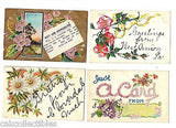Lot of 4 Antique Greetings Post Cards-Lot 26 - Cakcollectibles - 1