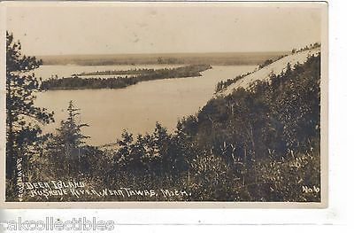 RPPC-Deer Island,Ausable River near Tawas,Michigan - Cakcollectibles - 1