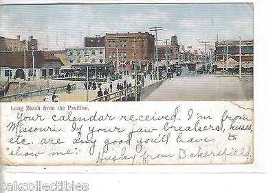 Long Beach from The Pavilion-California 1907 - Cakcollectibles