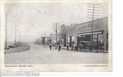 Main Street-Braham,Minnesota 1907 (Horse and Wagon) - Cakcollectibles - 1