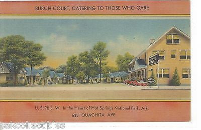 Burch Court-Hot Springs National Park-Arkansas - Cakcollectibles - 1