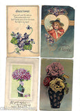 Lot of 4 Antique Greetings Post Cards-Lot 38 - Cakcollectibles - 1