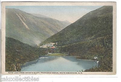 Echo Lake from Artist's Bluff-Franconia Notch,White Mts.,New Hampshire 1916 - Cakcollectibles
