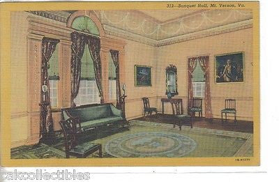 Banquet Hall-Mt. Vernon-Virginia - Cakcollectibles