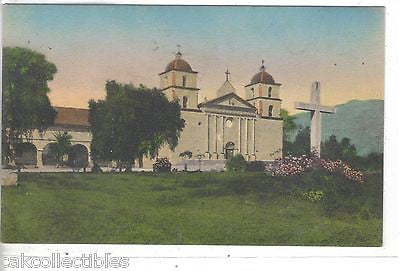 Santa Barbara Mission-Santa Barbara,California (Hand Colored) - Cakcollectibles - 1