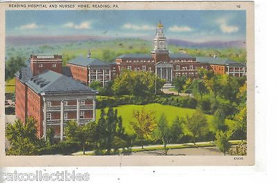 Reading Hospital and Nurses' Home-Reading,Pennsylvania - Cakcollectibles