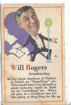 Will Rogers Comic Post Crad-1929 - Cakcollectibles - 1