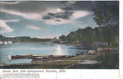 Lincoln Park,Lake Quinsigamond-Worcester,Massachusetts UDB - Cakcollectibles