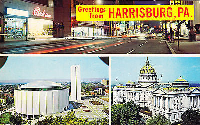 Greetings From Harrisburg, PA Postcard - Cakcollectibles