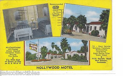 Hollywood Motel-New Orleans,Louisiana 1953 - Cakcollectibles - 1