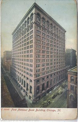 First National Bank Building-Chicago,Illinois 1909 - Cakcollectibles