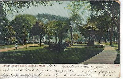 Grand Circus Park-Detroit,Michigan 1907 - Cakcollectibles