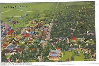Air View of St. Albans,Vermont - Cakcollectibles