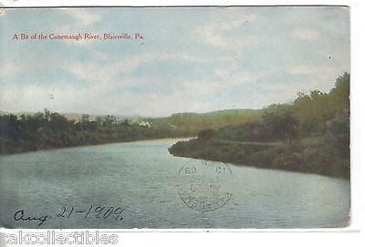 A Bit of The Conemaugh River-Blairsville,Pennsylvania 1909 - Cakcollectibles