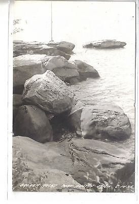 RPPC-Broken Rocks-Port Austin,Michigan 1949 - Cakcollectibles - 1