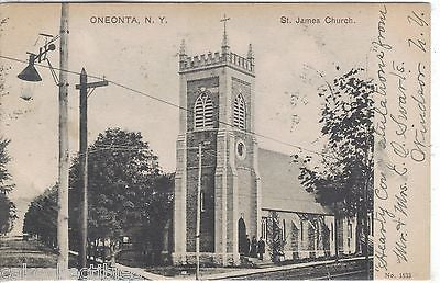 St. James Church-Oneonta,New York 1908 - Cakcollectibles